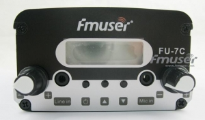 China 0-50w FMUSER FU-7C 7W FM Transmitter stereo PLL FM radio broadcast FM transponder 1.5w/7w adjustable on sale