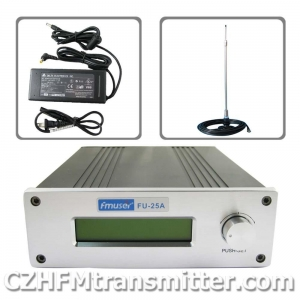 China FMUSER FU-25A 0-25W Professional FM stereo broadcast transmitte+ car sucker antenna+power supply on sale