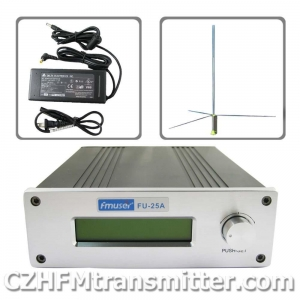 China FMUSER FU-25A 0-25W Professional FM stereo broadcast transmitte+1/2 wave GP antenna+power supply on sale