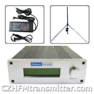 China FMUSER FU-25A 0-25W Professional FM stereo broadcast transmitte+1/4 wave GP antenna+power supply on sale