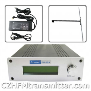 China FMUSER FU-25A 0-25W Professional FM stereo broadcast transmitte+1/2 wave dipole antenna+power supply on sale