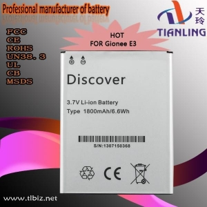 China Mobile phone battery for Gionee E3 on sale
