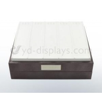 White leather chain decorated tray -007
