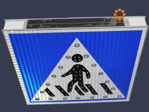 China Solar Traffic Pedestrian Sign With 3M Reflector,Solar Traffic sign on sale