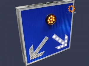 China Solar divided road warning sign,Solar LED Traffic Guiding Sign,Solar Traffic sign on sale