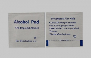 China Alcohol prep pad(with 70% isopropyl alcohol) on sale