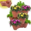 China M-1068 a set of 3 Stackable Planters for sale