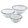 China M-0966 Pyrex Prepware 3-Piece Mixing Bowl Set for sale