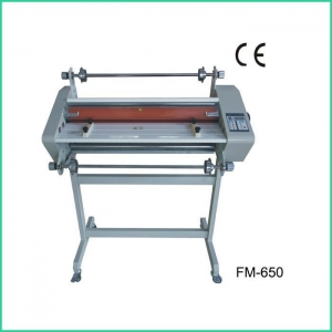 China 25 Inch Hot and Cold Roll Laminator / Cheap laminator machine FM-650 on sale
