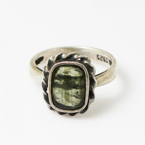 China Sterling Silver Gemstone Ring on sale