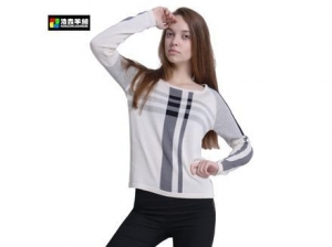 China Fashion Silk Cotton Intarsia Pattern Sweater on sale