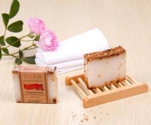 China Natural milk rose soap bar on sale