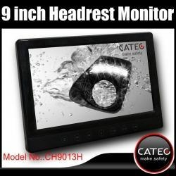 China Detachable 9 inch car headrest monitors with DVB_T, ISDB_T, analog TV optional on sale
