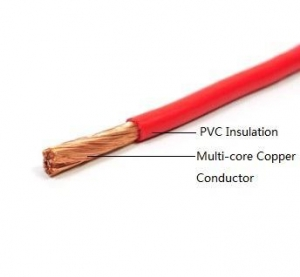 China BVR Copper Core PVC Insulation Flexible Cable on sale