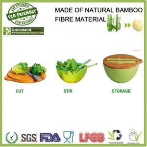 China Multifunction bamboo salad bowl set on sale