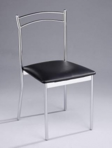 China Metal Tube Legs Dining Chair w/ Seat Cushion on sale