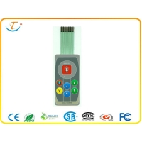 China Emboss Type Button Flexible Membrane Switch on sale