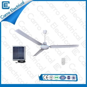 China High Speed 12V DC Solar Powered Ceiling Fan 48 Inches Fan Blade with Step Switch ADC-12V48D on sale