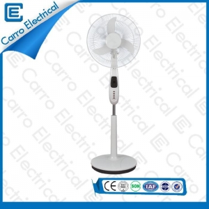 China 2015 new product battery operation dc rechargeable stand fan CE-12V16K5 on sale