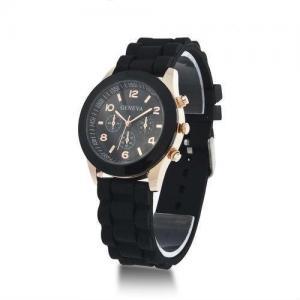 China Geneva quartz wrist silicone watches for men on sale