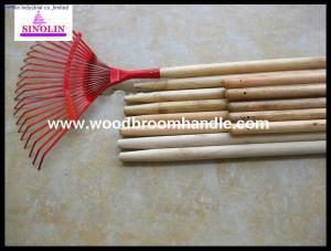 China leaf rake wooden handle on sale