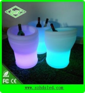 China illuminated led ice bucket with rechargeable battery on sale