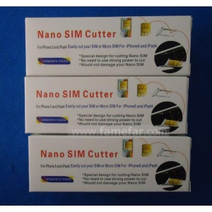 China Nano Sim Cutter And Adapters For Apple iPhone 5 iPad Mini / Silver on sale