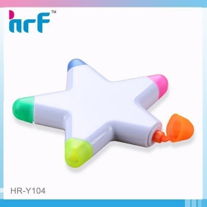 China 5 in 1 Star Shaped Promotion Highlighter on sale
