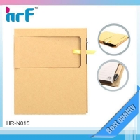 Recycle hardcover notebook include one pad note sticky