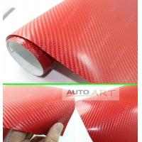 Red 4D CARBON FIBER VINYL AUTO CAR WRAP