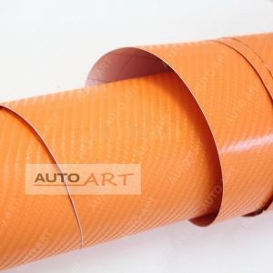China Orange 4D Carbon Wrapping Vinyl Real Look on sale