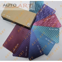 3D Car CHAMELEON CARBON FIBER Purple Blue Vinyl Wrap Film