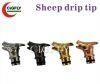 China Drip Tip New Arrival Sheep Metal 510 Drip Tips on sale