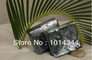 China natural bar handmade charcoal soap ,natural soap(wzPS020) on sale