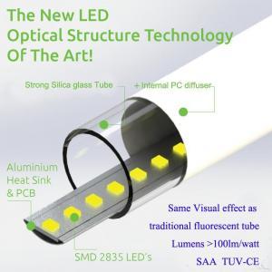 China 9W 0.6M LED T8 Silica Glass Tube 90-110LM/W 300D Beam angle on sale