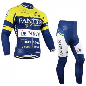 China Winter yellow garmin mens cycling jersey and bike winter trousers on sale