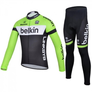 China Winter green belkin men cycling jersey and lycra cycling tights on sale