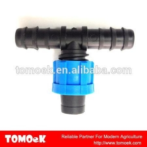 China Tee For Poly Tubing To Drip Tape on sale