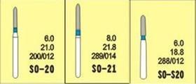 China Dental Abrasive Tool SO Diamond Dental Bur on sale