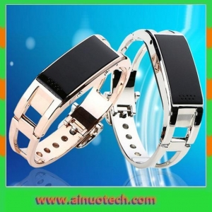 China D8 Luxury Smart Bracelet Watch Pedometer Gold & Silver on sale