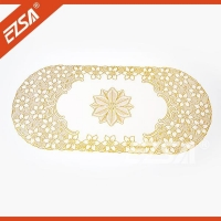 EZS Chinese OvalRound Eco-friendly PVC Banquet Style Table Cloth for Restaurant
