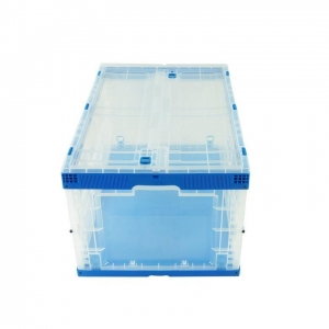 China 650-440-360 collapsible Plastic box Attached Lid on sale