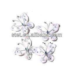 China Wholesale Artificial Organza Nylon Butterflies For Weddings on sale