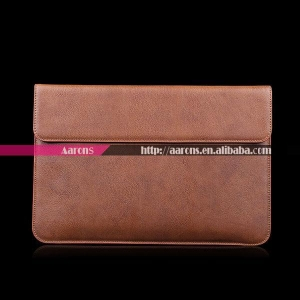 China genuine leather envelope case for macbook air 13 inch on sale