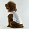 China Blank Plain Dog Tee Tank Top White for sale