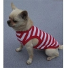 China Red and White Striped Dog Tank for sale