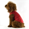 China Blank Plain Dog Tee Tank Top Red for sale