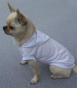 China Blank Plain Dog T-shirt Hoodie White on sale