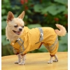 China Classic reflective tape water-proof four-legged dog raincoat Yellow for sale