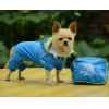 China Double-layer mesh four-legged water-proof dog raincoat Blue for sale